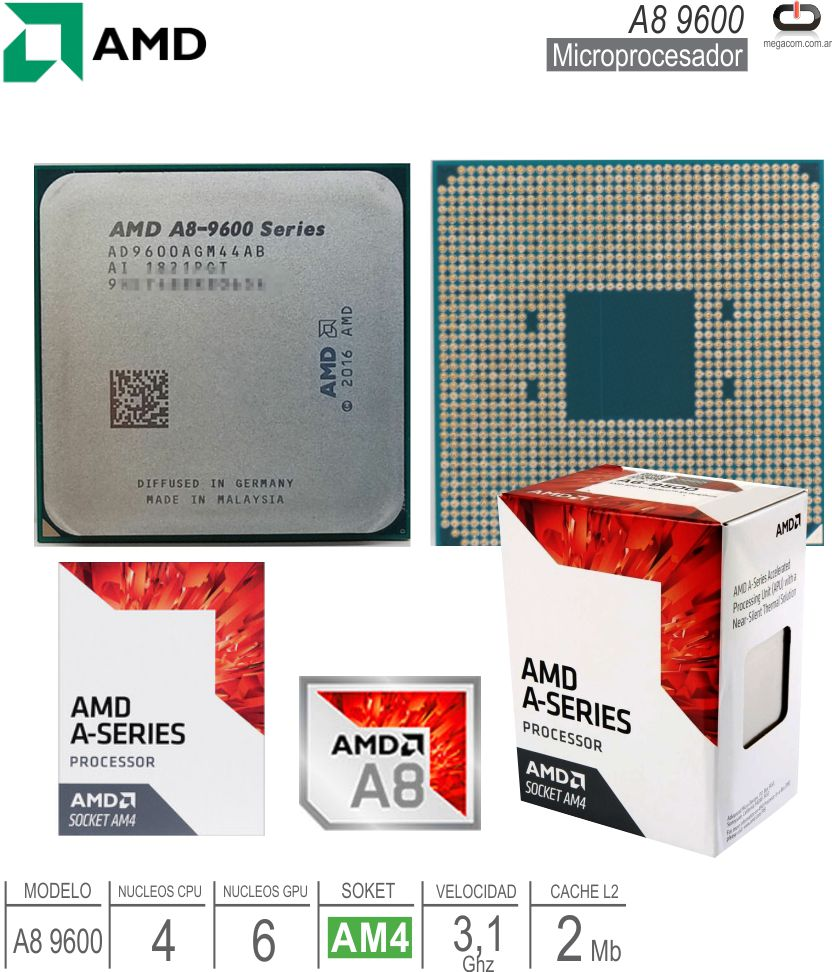 Procesador AMD AM4 A8 9600