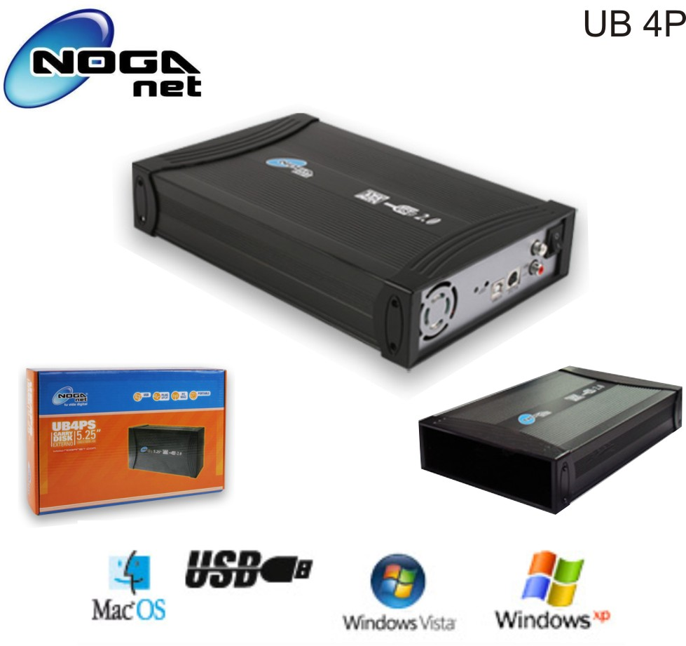 CASE 5,25 SATA + IDE A USB NOGA UB4PS
