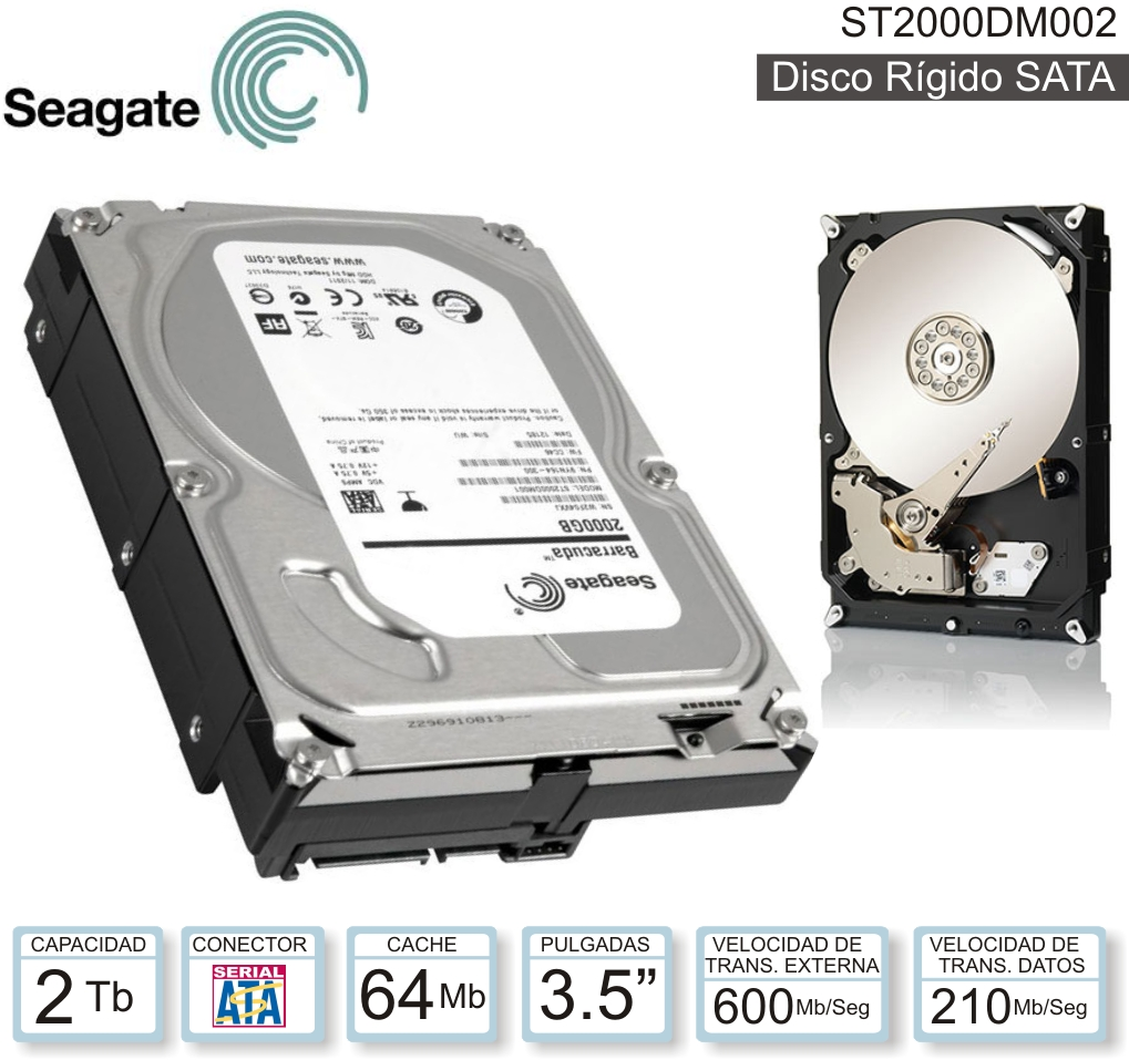 DISCO 3.5 SATA 2 TB SEAGATE BARRACU