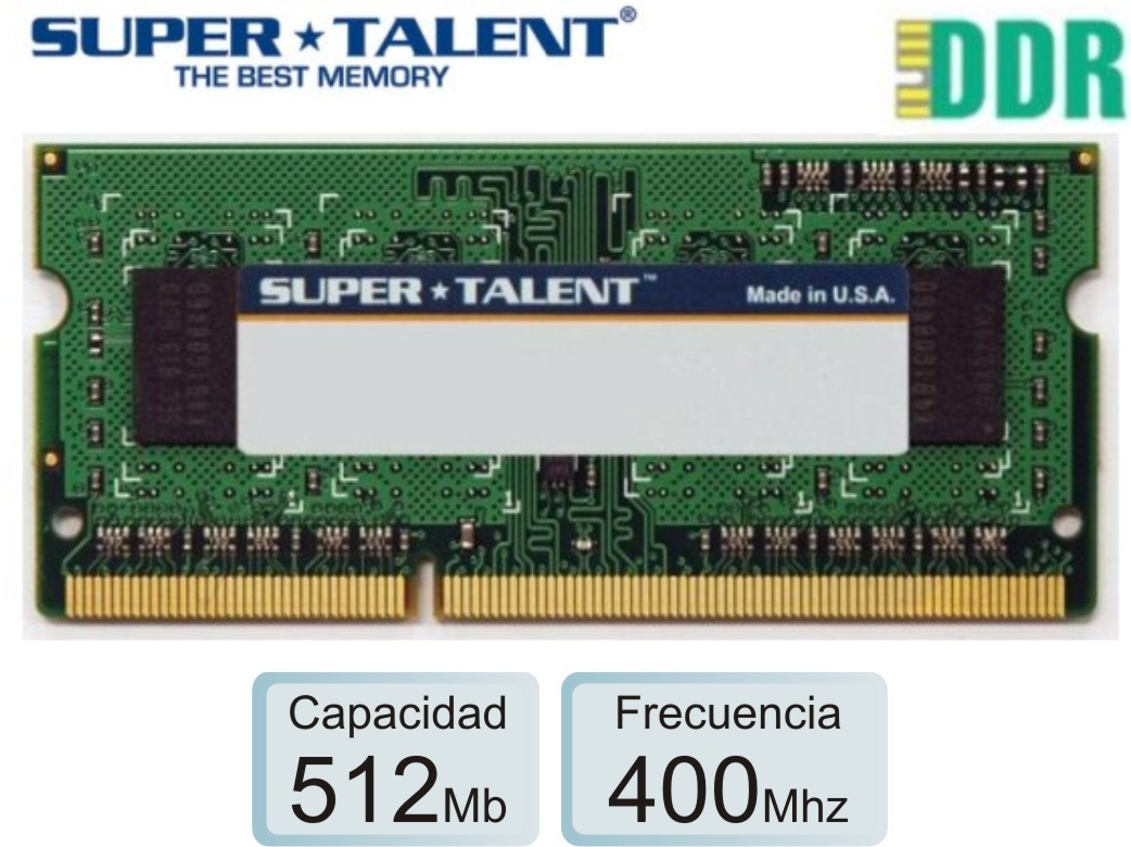 Sodimm DDR1 0.5Gb 0400 1.50v SUPERTALENT