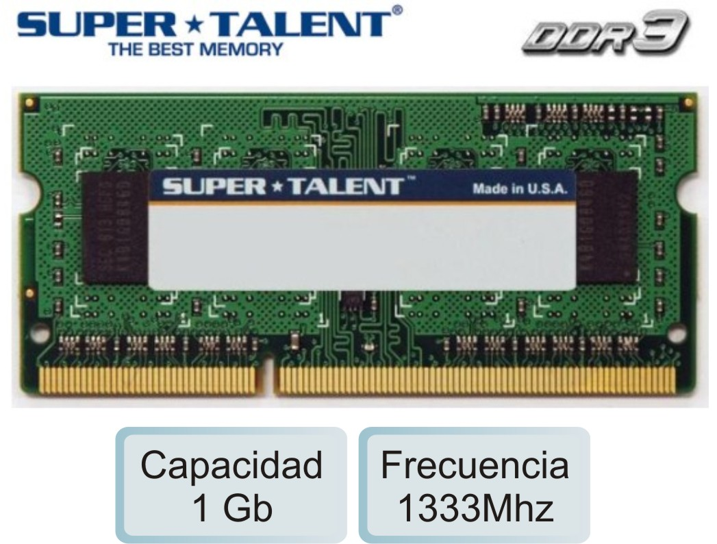 Sodimm DDR3 01Gb 1333 1.50v SUPERTALENT