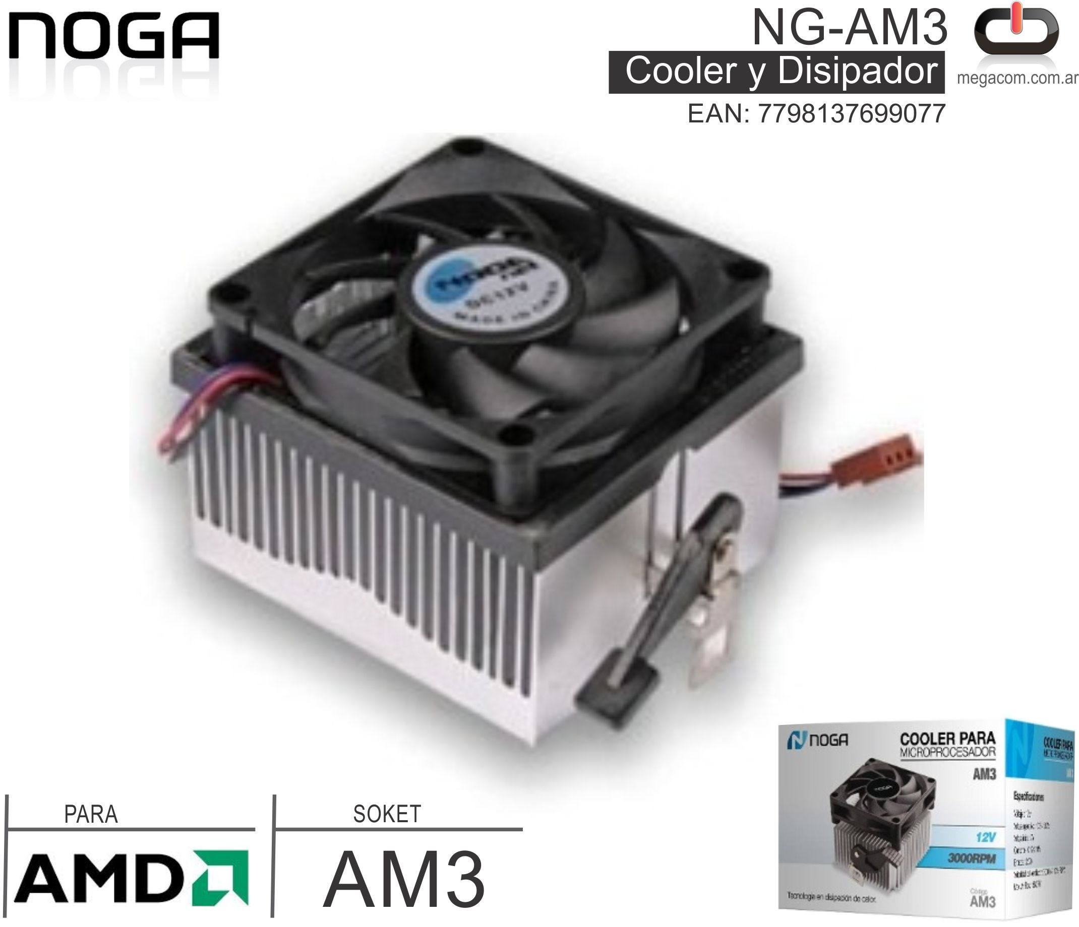 COOLER NOGA NG-AMCOOLER NOGA NG-AM33 (AMD) SOK AM3