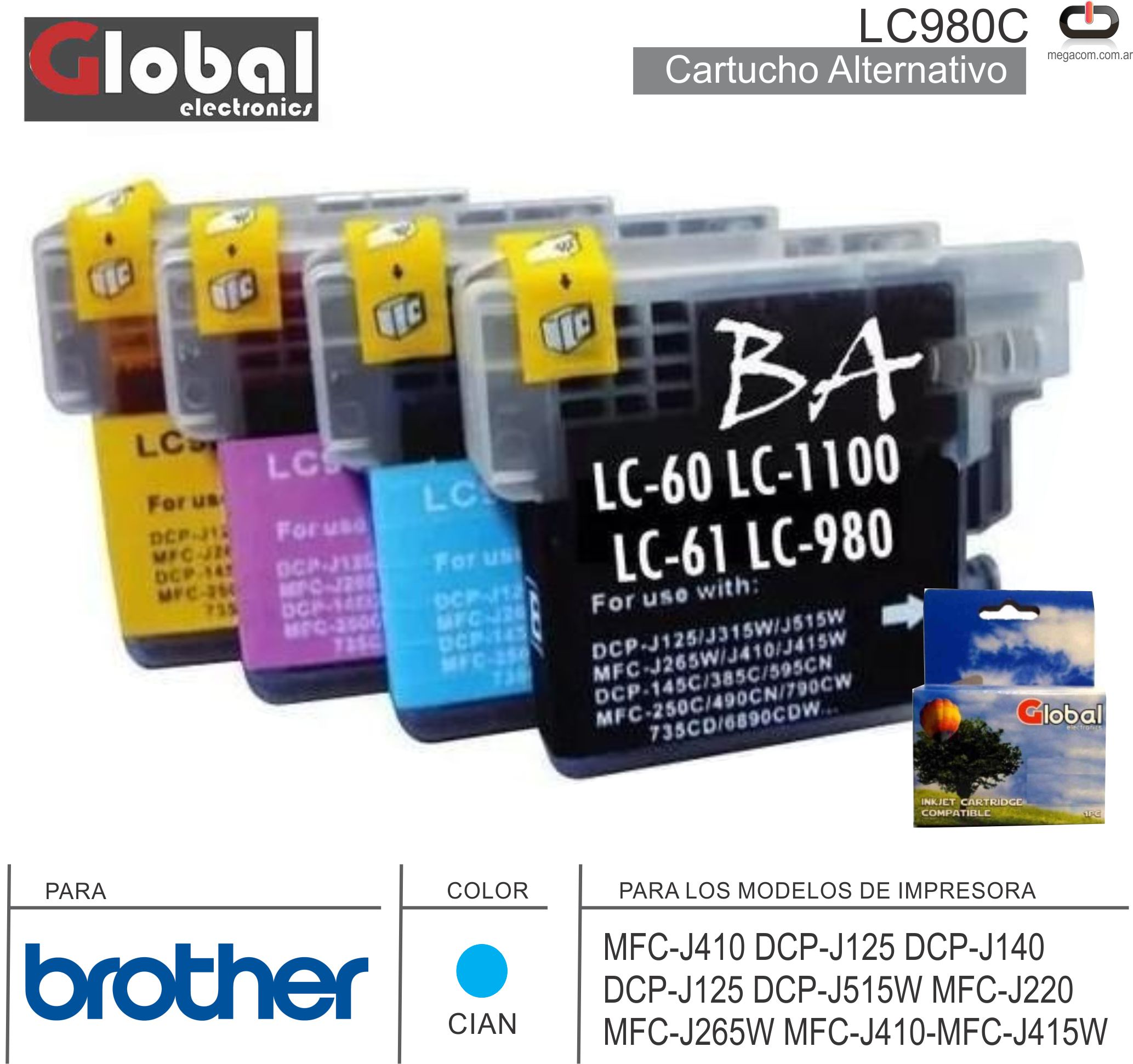 Cart ALT BROTHER LC980C Cia GLOBAL