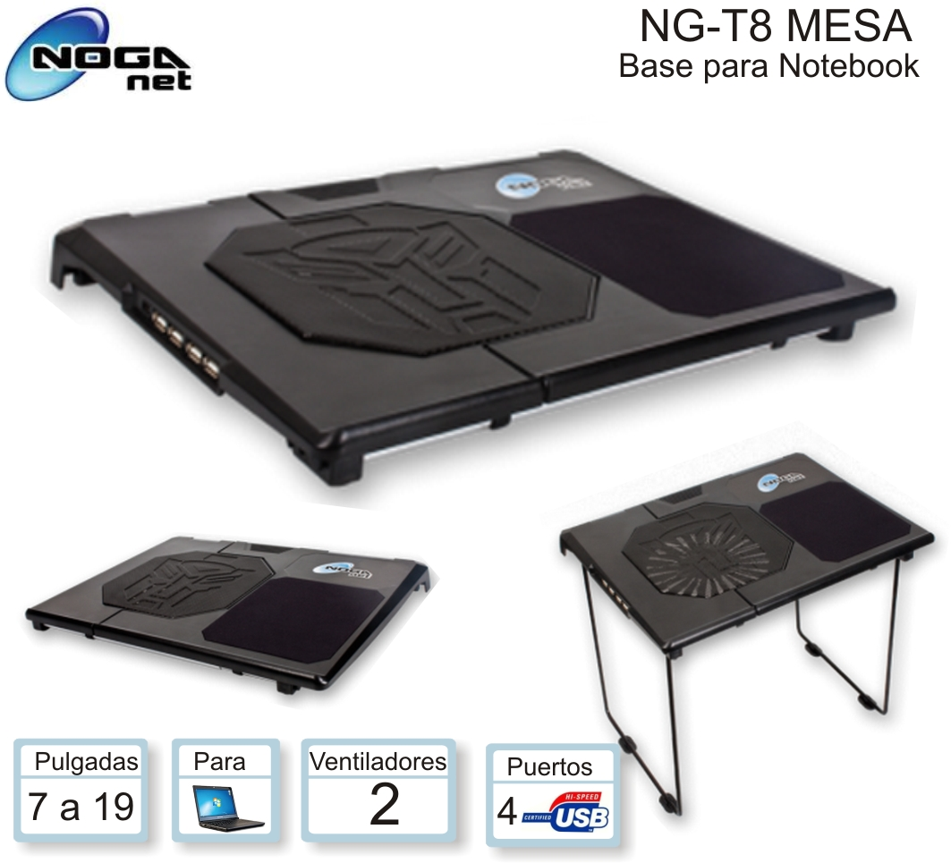 BASE NOGA NG-T8 MESA P/NOTEBOOK
