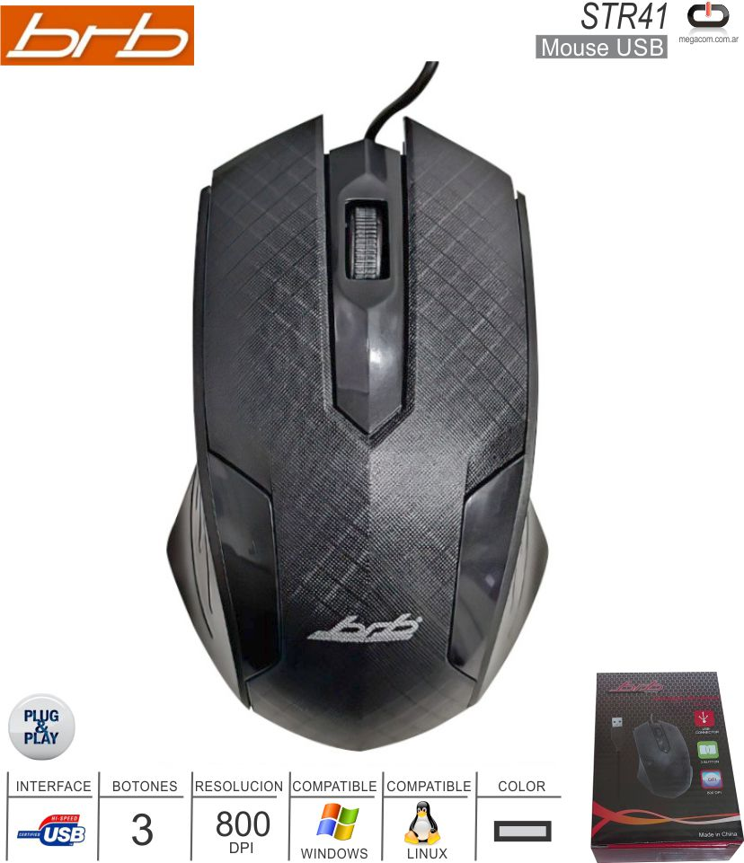 Mouse USB BRB STR41