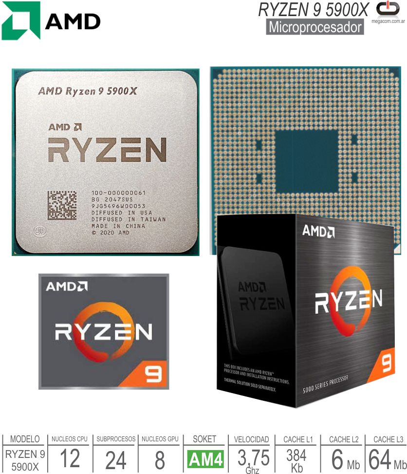 Procesador AMD AM4 Ryzen 7 2700