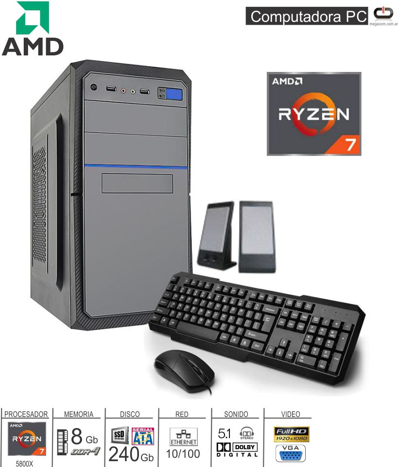 PC AMD A12 ATHLON 200GE/4GB/1TB