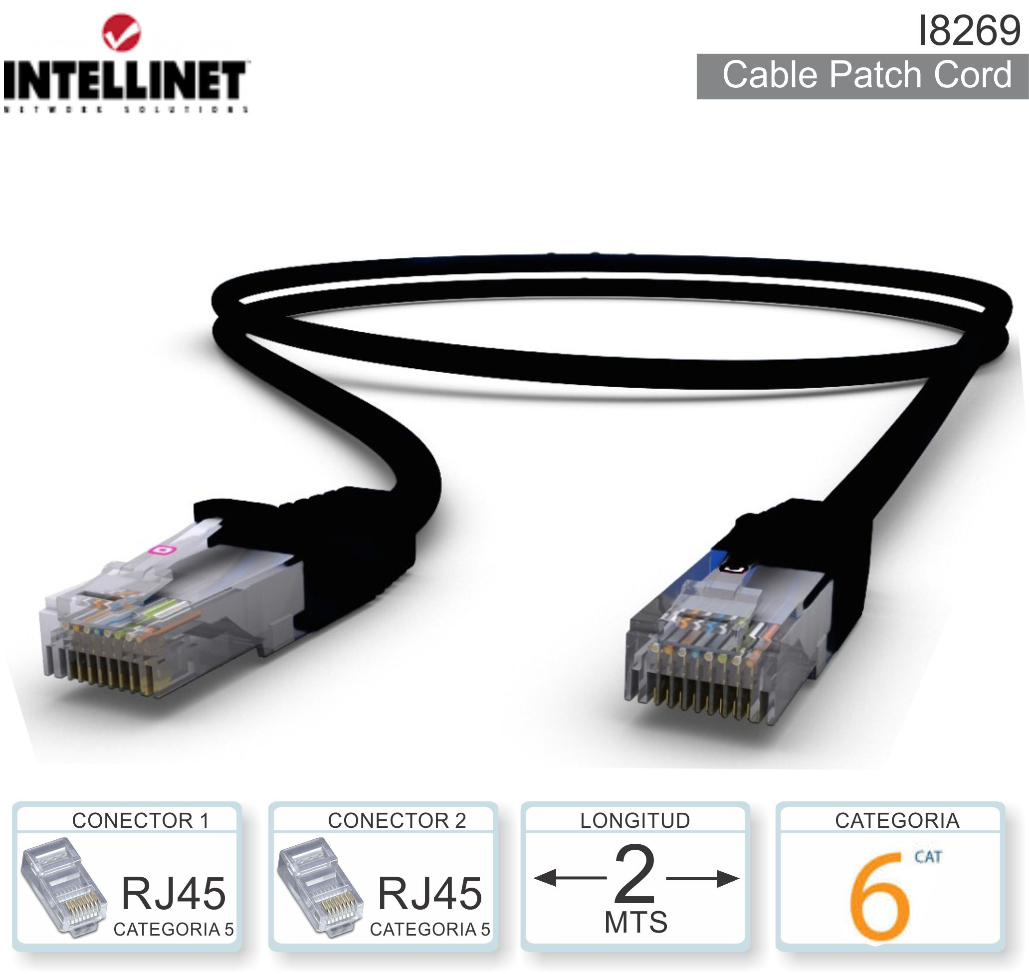 Cable Patch Cord C6 02.0M INTELLINET I8269