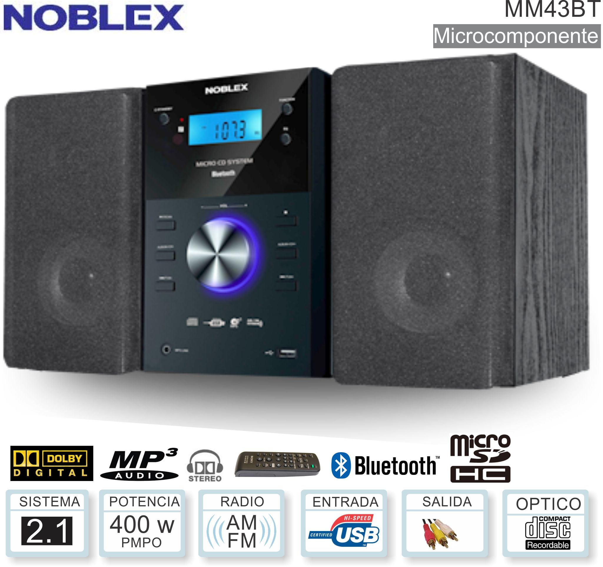 Microcomponente NOBLEX MM43BT