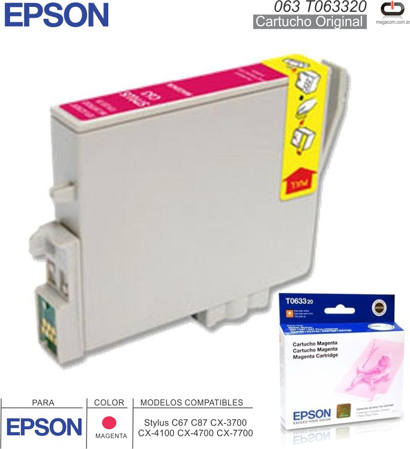 Cart EPSON 063 T063320 Mag