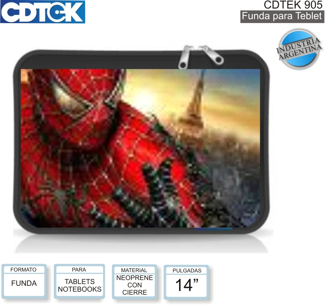 FUNDA 14P CDTEK 905 SPIDERMAN