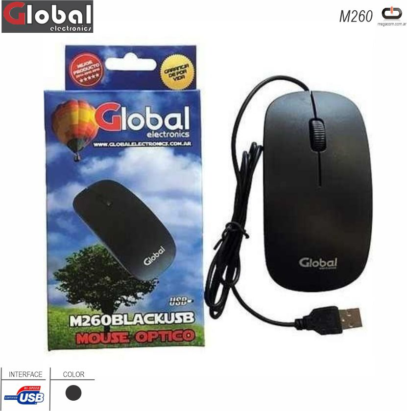 Mouse USB GLOBAL M260