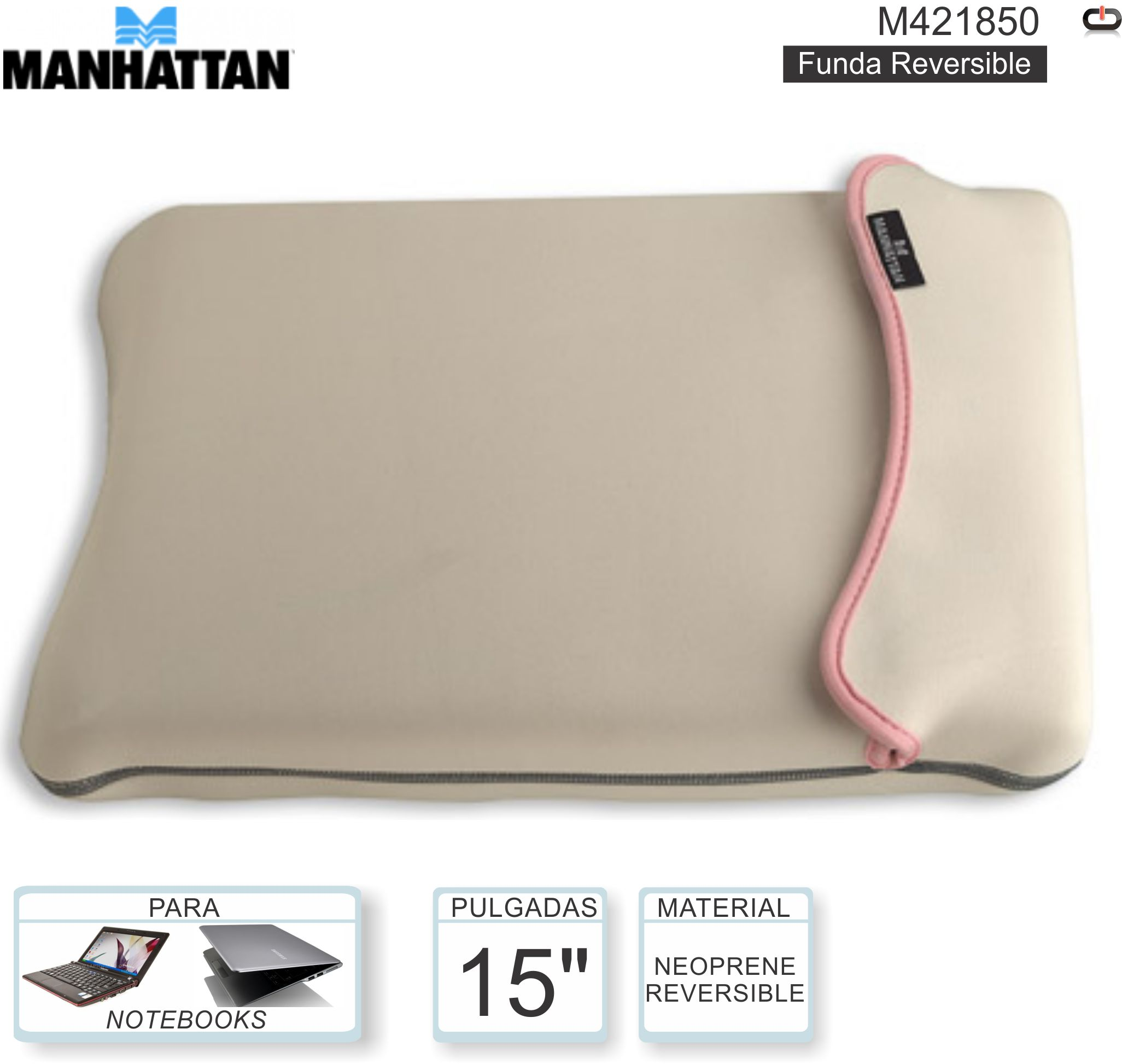 FUNDA 15P MANHATTAN M421850 REVERSIBLE