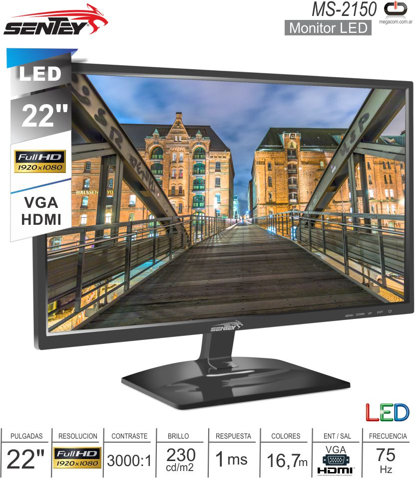 Monitor LED 22 FHD SENTEY MS-2150 75 hz