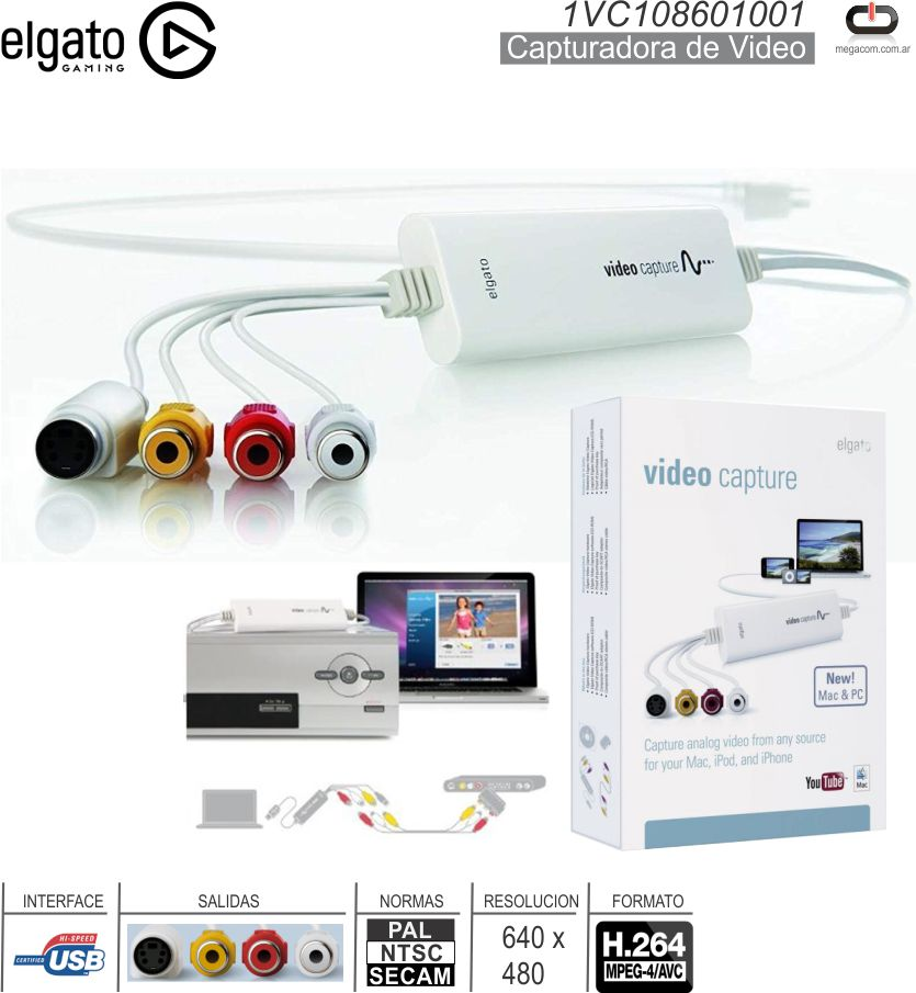 Capturador de Video ELGATO 1VC108601001