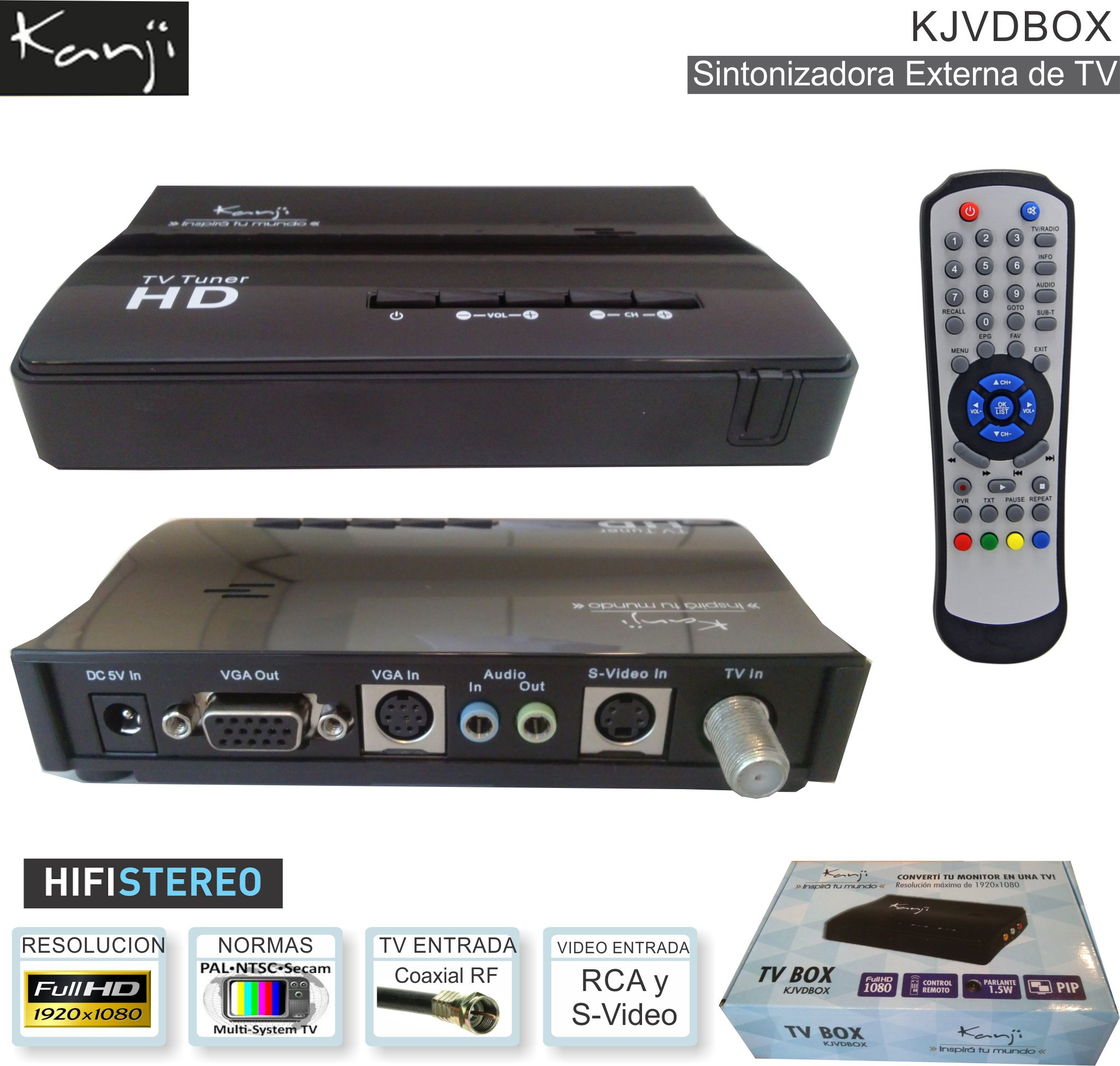 Sintonizadora TV Ext KANJI KJVDBOX