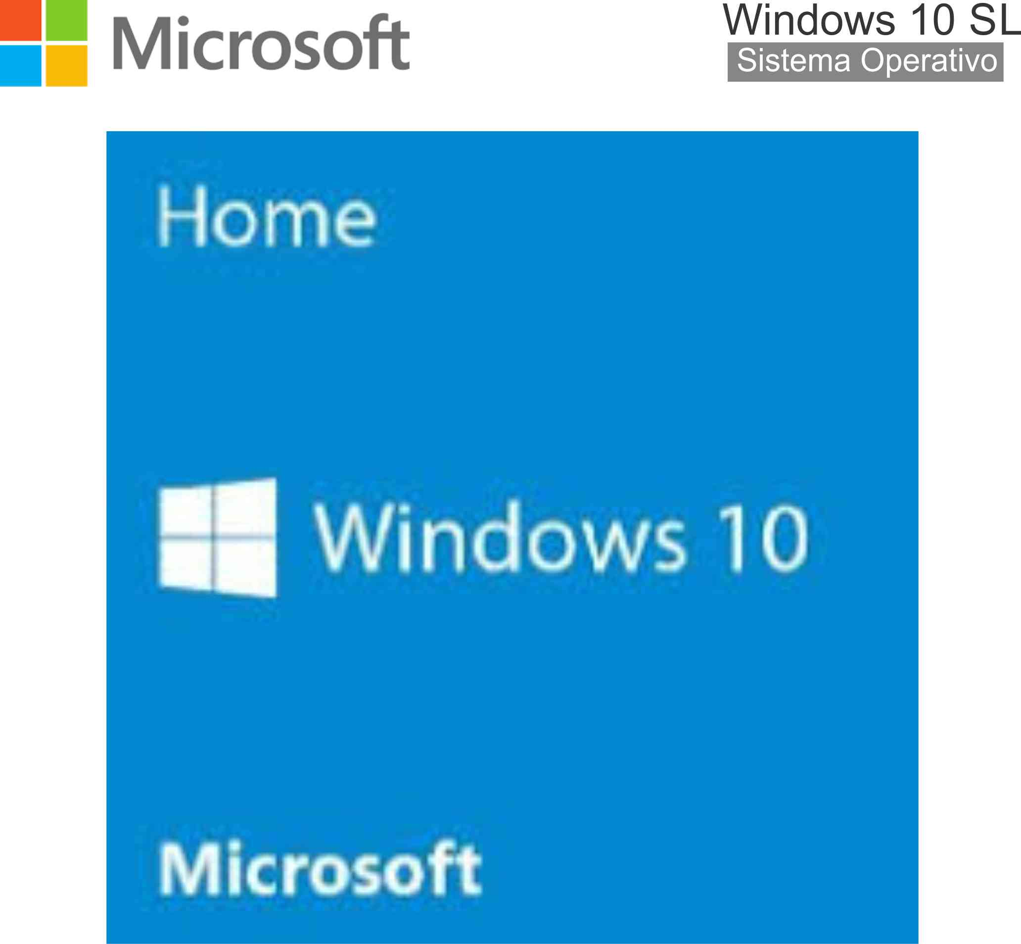 SOFTWARE MICROSOFT GN WINDOWS 10 SL