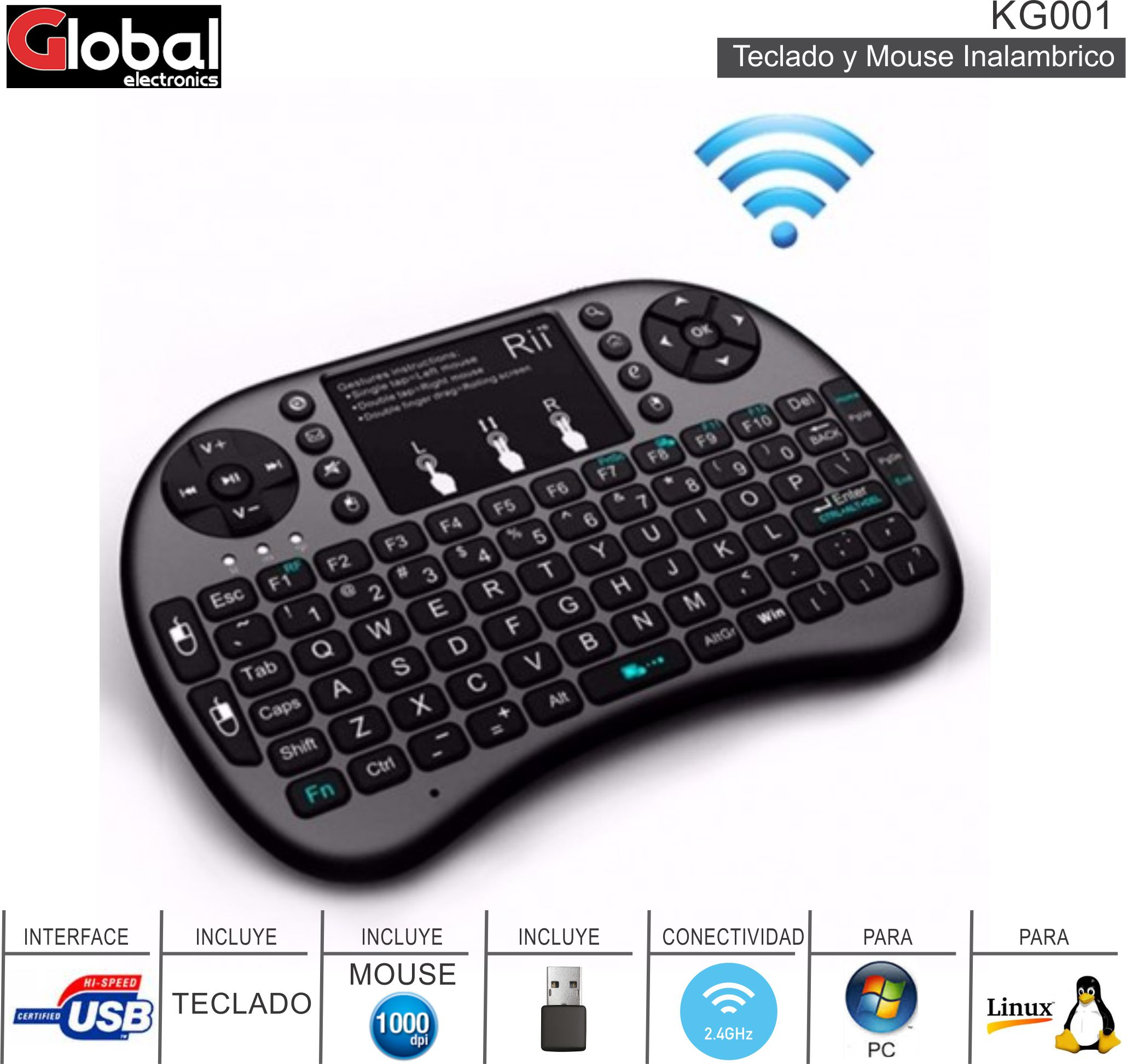 Teclado Smart MINI INALAMBRICO GLOBAL KG001