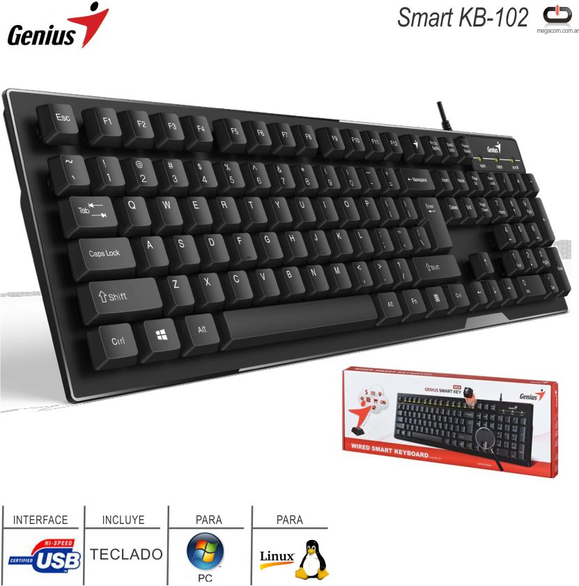 Teclado USB GENIUS Smart KB-102