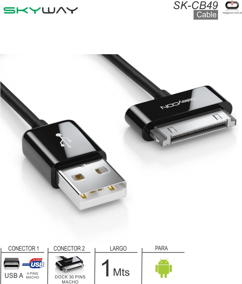 Cable USB M - Dock 30P M SKYWAY SK-CB49 Tablets