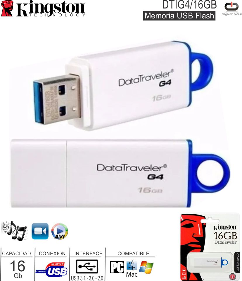 Mem USB 032 Gb KINGSTON DT50-32 3.0