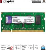 Sodimm DDR2 01Gb 0800 1.80v KINGSTON KVR800D2S6-1G