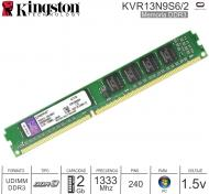 DDR3 02Gb 1333 1.50v KINGSTON KVR13N9S6/2