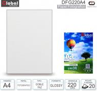 Papel A4 Doble Faz Glossy 220G/020H GLOBAL DFG220A