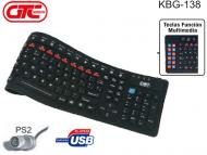 Teclado Flexible USB GTC KBG-138