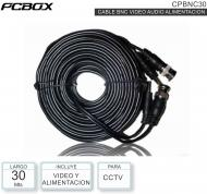Cable CCTV 30M BNC Video Alim PCBOX CBNC30