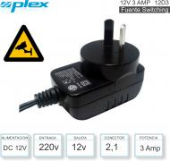 Fuente Switching 12V 05.0A 2.1mm PLEX 12D5