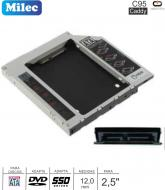 Caddy MILEC C96 DVD SATA 12.7MM Slim - SATA 2.5