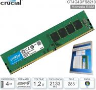 DDR4 04Gb 2133 1.20v CRUCIAL CT4G4DFS8213