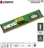 DDR4 08Gb 2400 1.20v KINGSTON KVR24N17S8-8