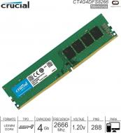 DDR4 04Gb 2666 1.20v CRUCIAL CT4G4DFS8266