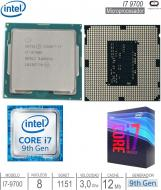 Procesador INTEL 1151 Core I7 9700 9G