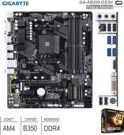 Mother AMD AM4 GIGABYTE GA-AB350-DS3H