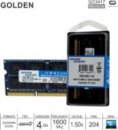 Sodimm DDR3 04GB 1600 1.50V GOLDEN MEMORY GM16